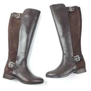 MARC FISHER Damsel boots 7 wide calf brown buckle